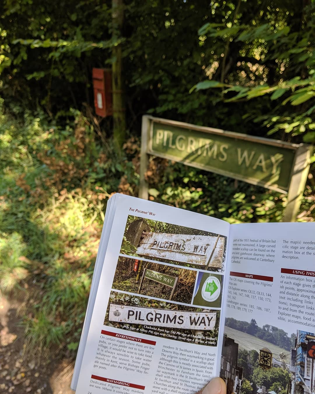 Pilgrims' Way Stages:  Winchester to Canterbury